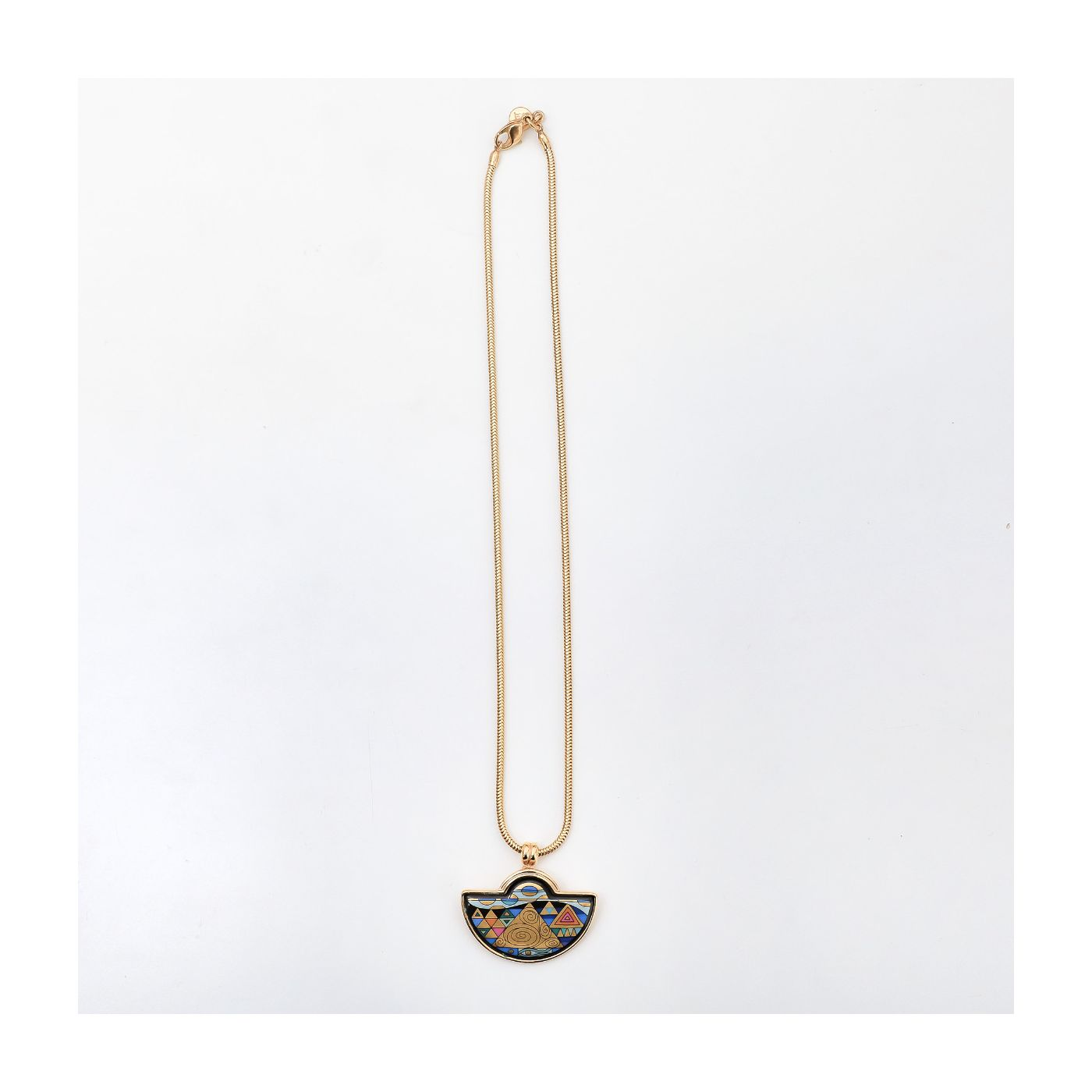 FreyWille Half Pendant Snake Chain Necklace