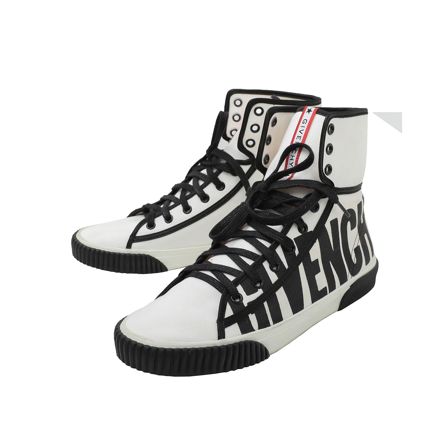 Givenchy Bicolor Cotton Boxing Sneakers