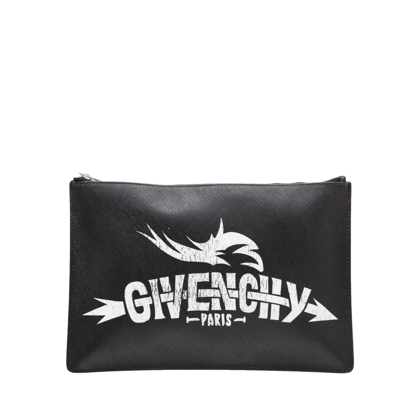 Givenchy Bicolor Logo Print Flat Zipped Pouch