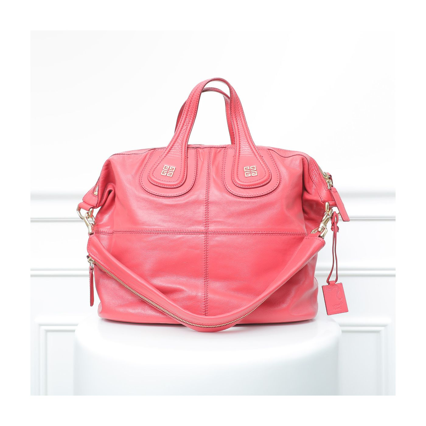 Givenchy Coral Red Nightingale Tote Large Bag