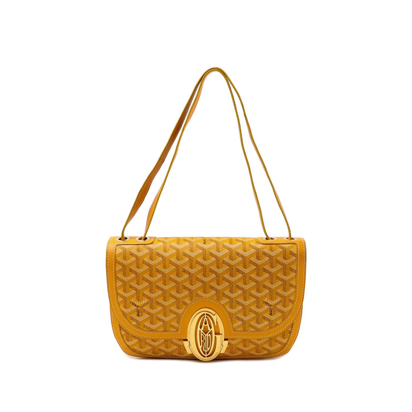 Goyard Yellow 233 Flap Bag