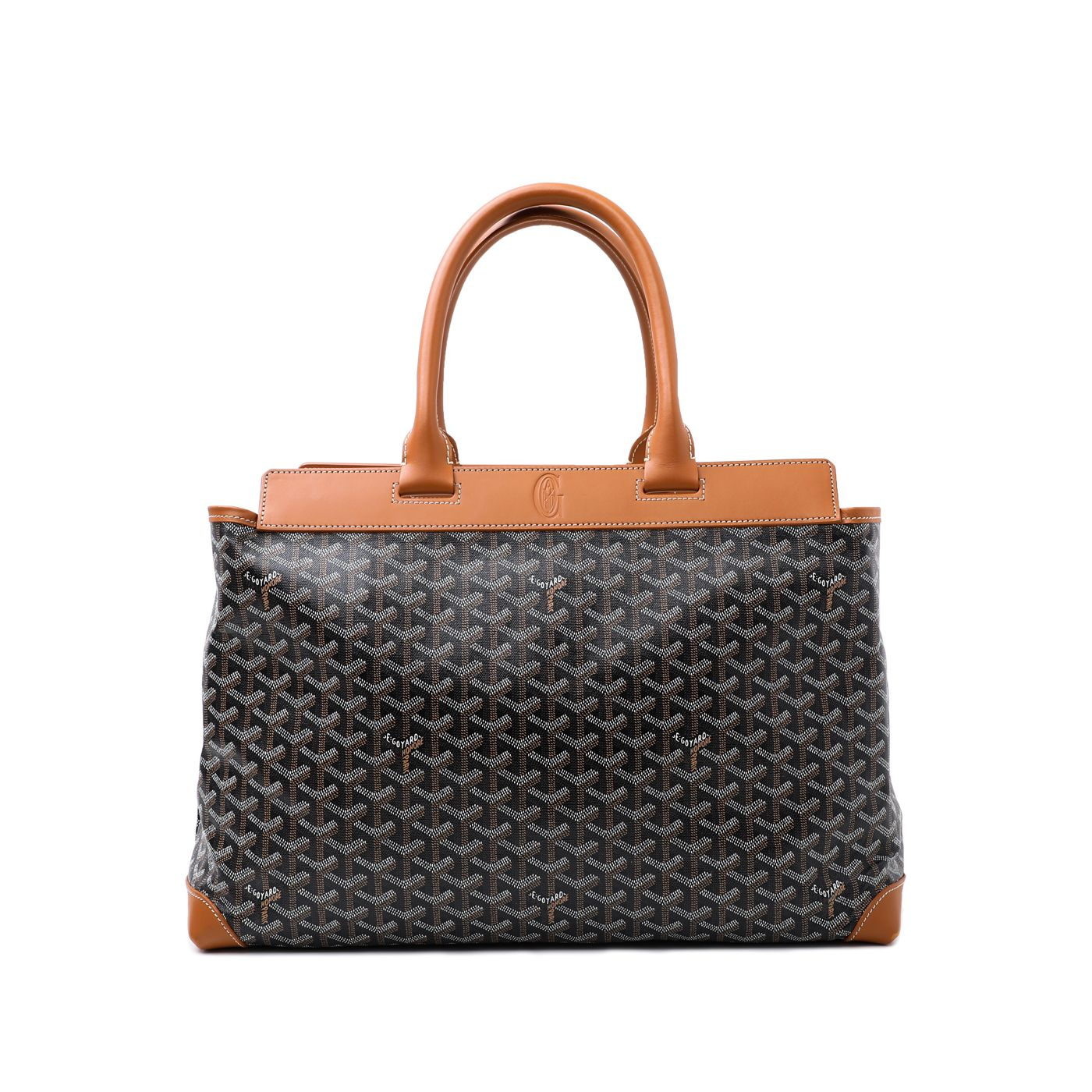 Goyard Tan Goyardine Bellechasse Biaude Bag