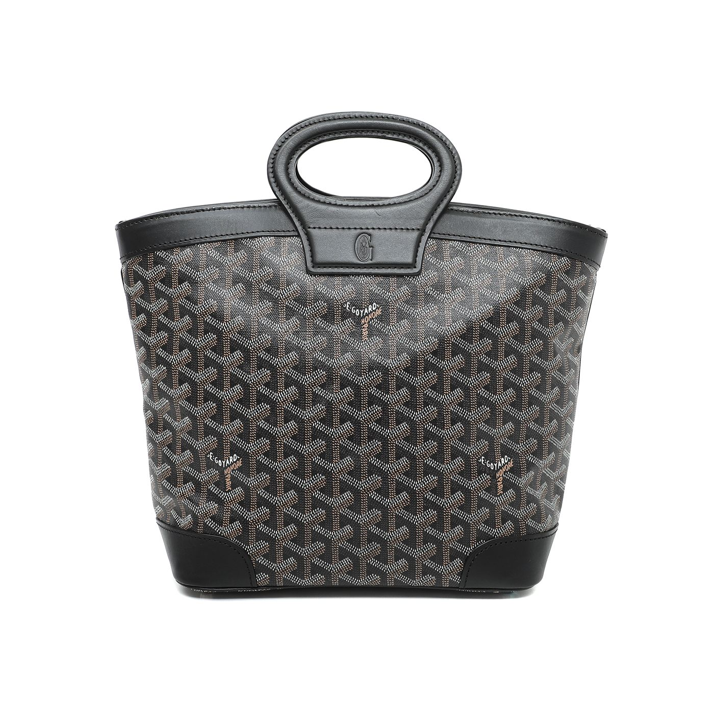 Goyard Black Goyardine Beluga Top Handle Bag