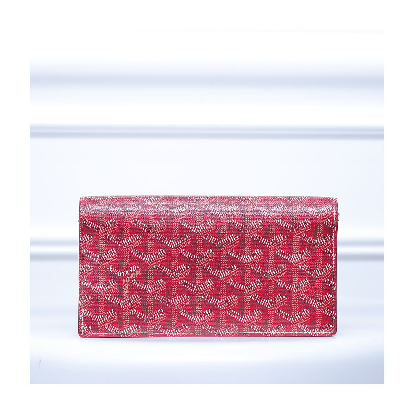 Goyard Red Goyardine Richelieu Continental Wallet