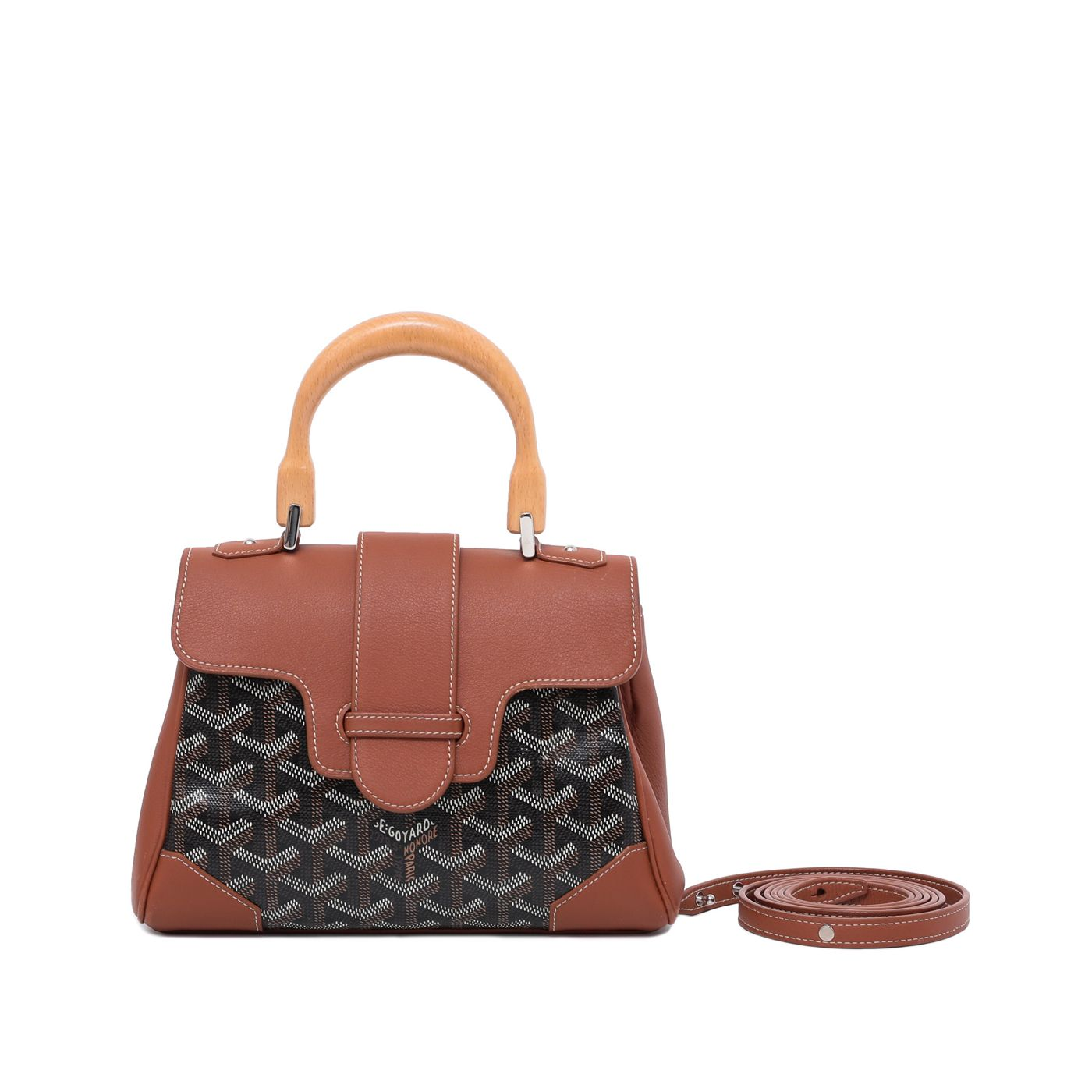 Goyard Brown Saigon Tote Bag Mini