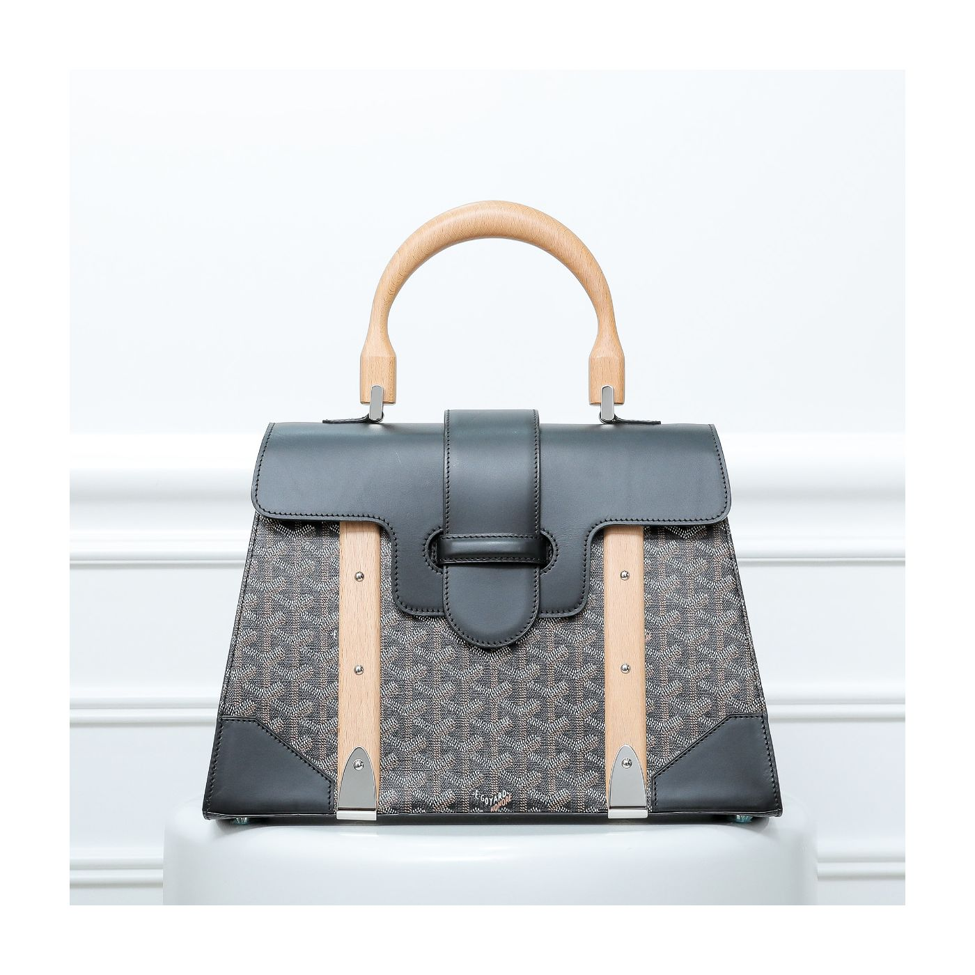 Goyard Black Saigon Tote Large Bag