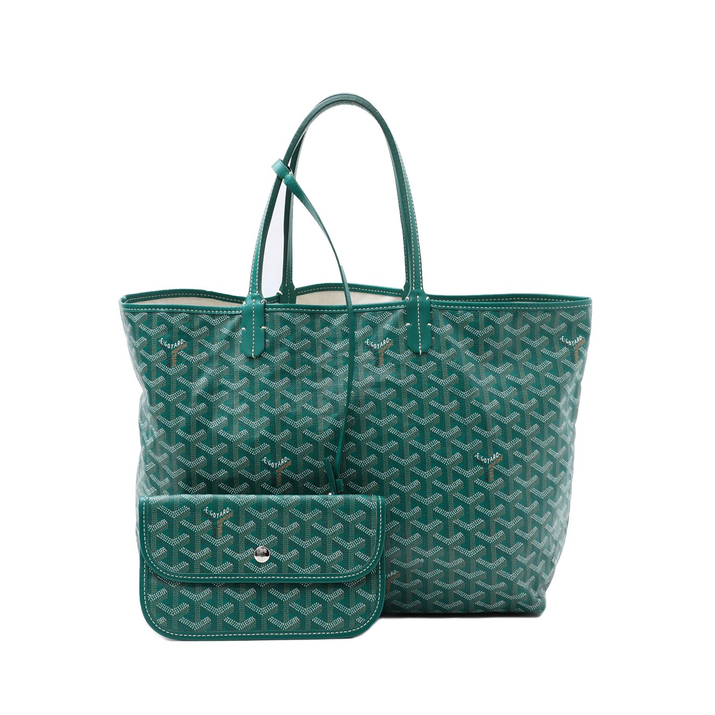 Goyard Green Saint Louis Tote Bag