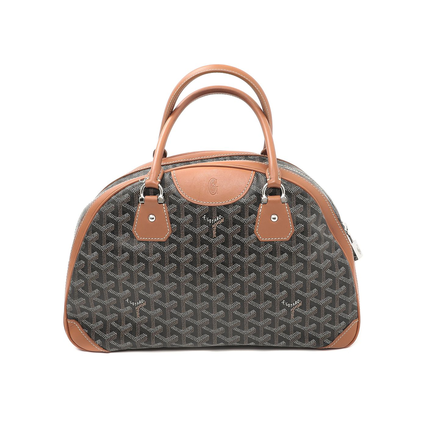 Goyard Brown St Jeanne Bowling Bag