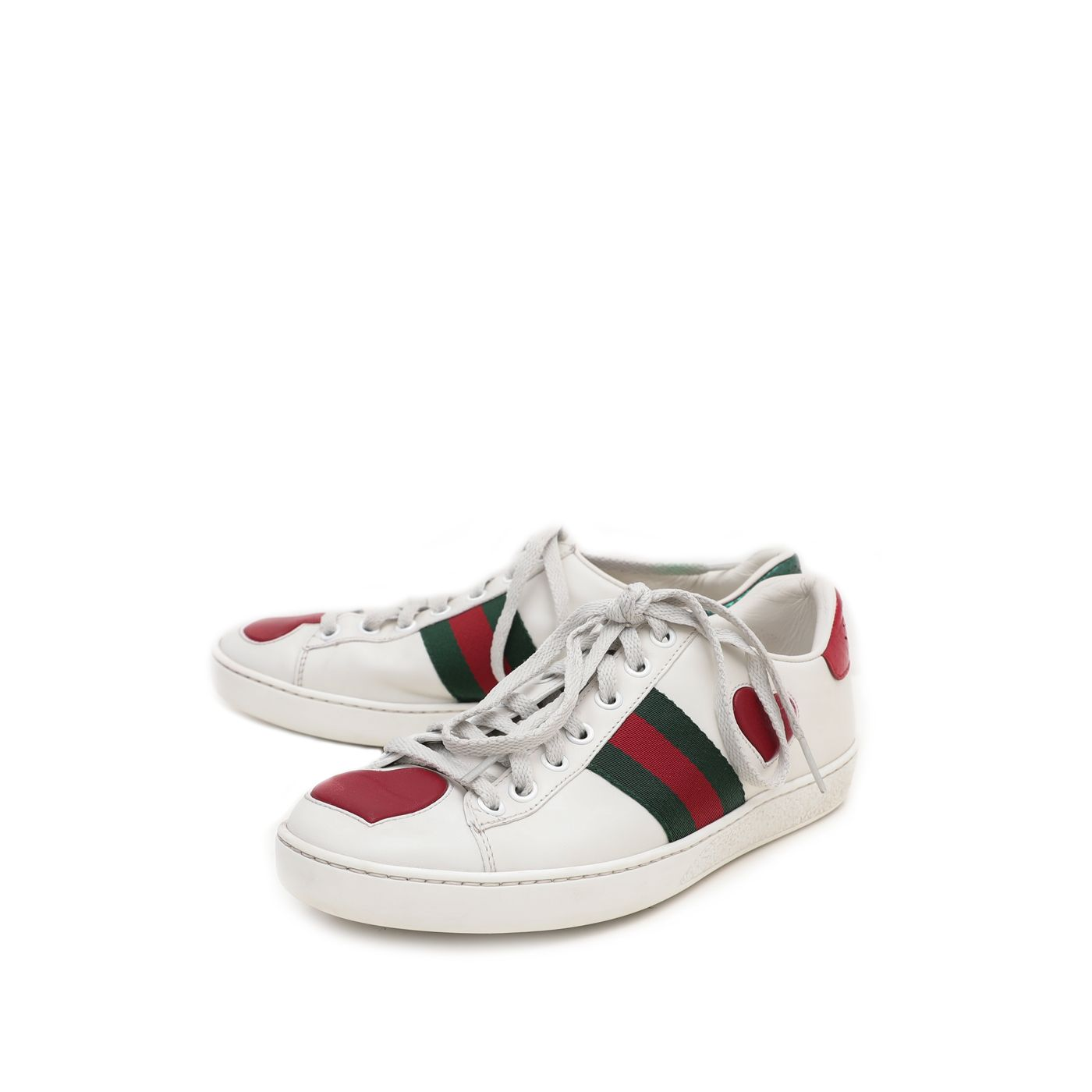 Gucci Tricolor Ace Heart Sneakers 36