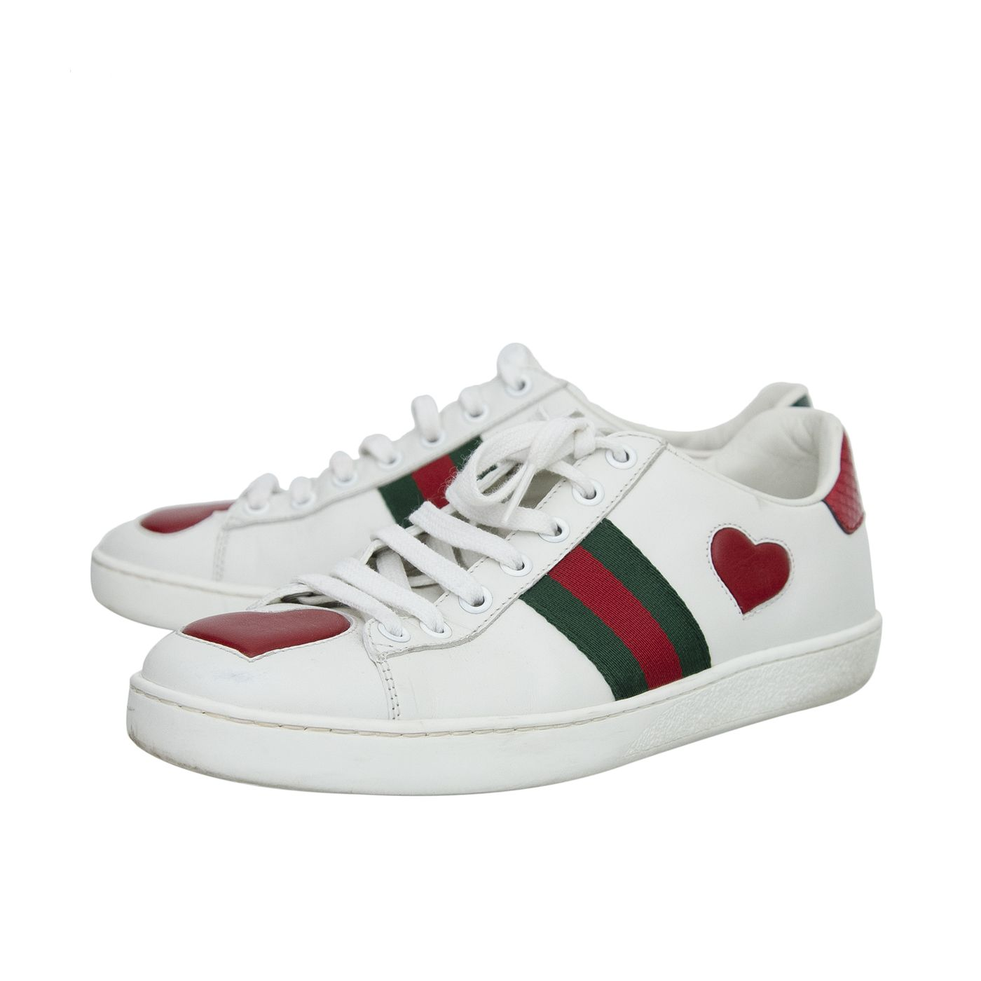 Gucci Tricolor Ace Heart Sneakers 37.5