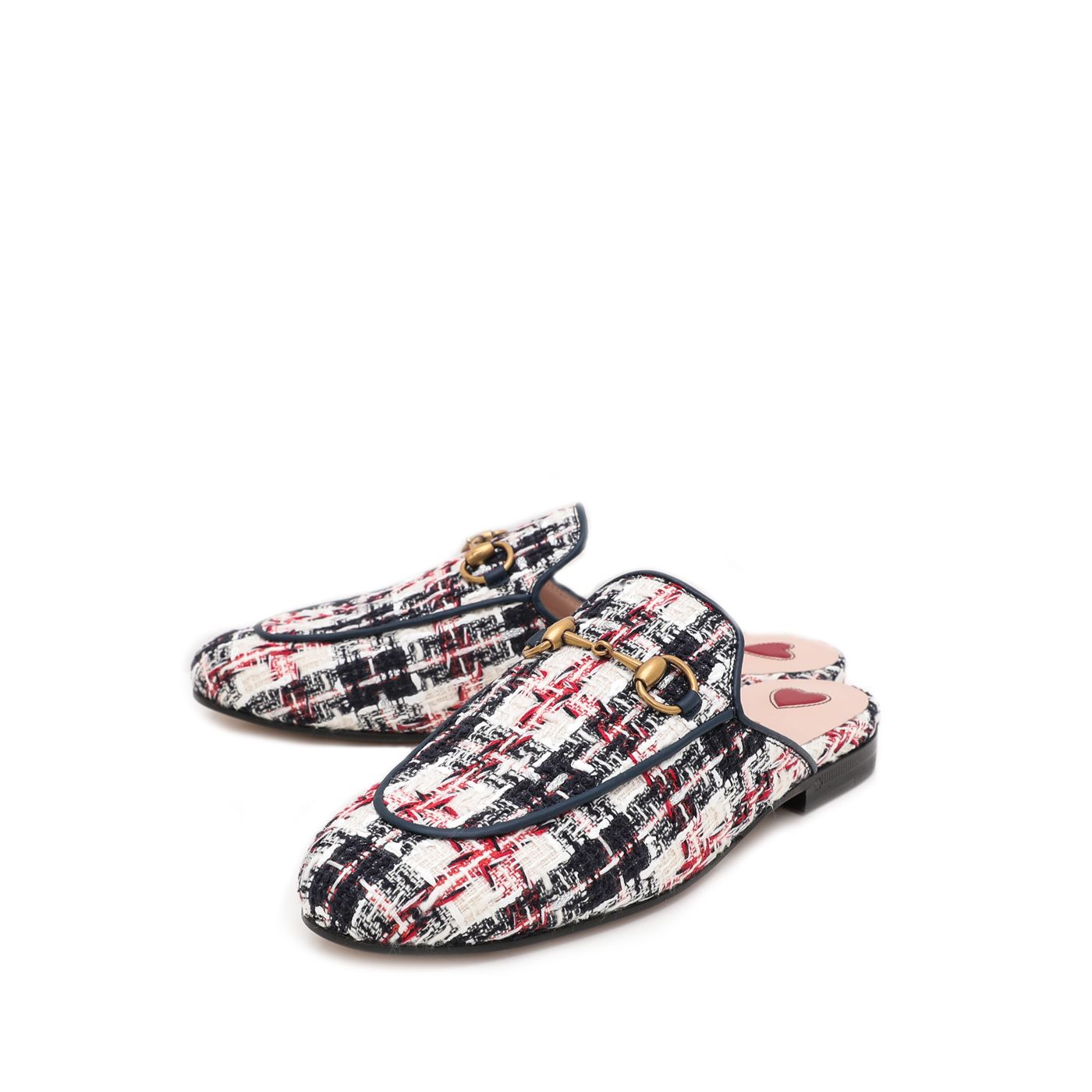 Gucci Multicolor Tweed Princetown Slipper 35