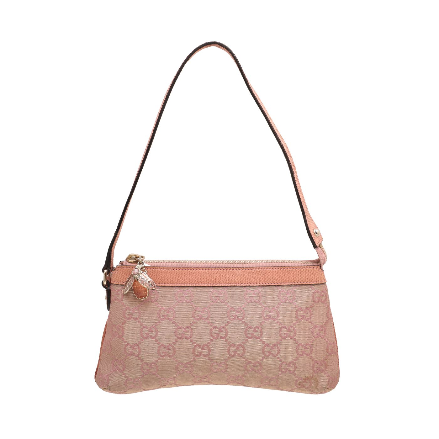 Gucci Pink Bumble Bee Charm Pochette Bag