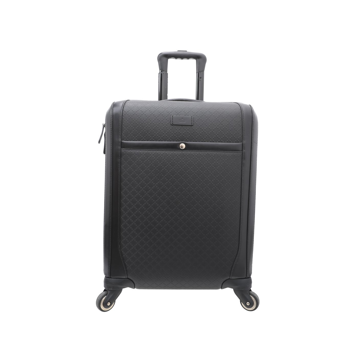 Gucci Black Diamante Wheeled Carry On Suitcase