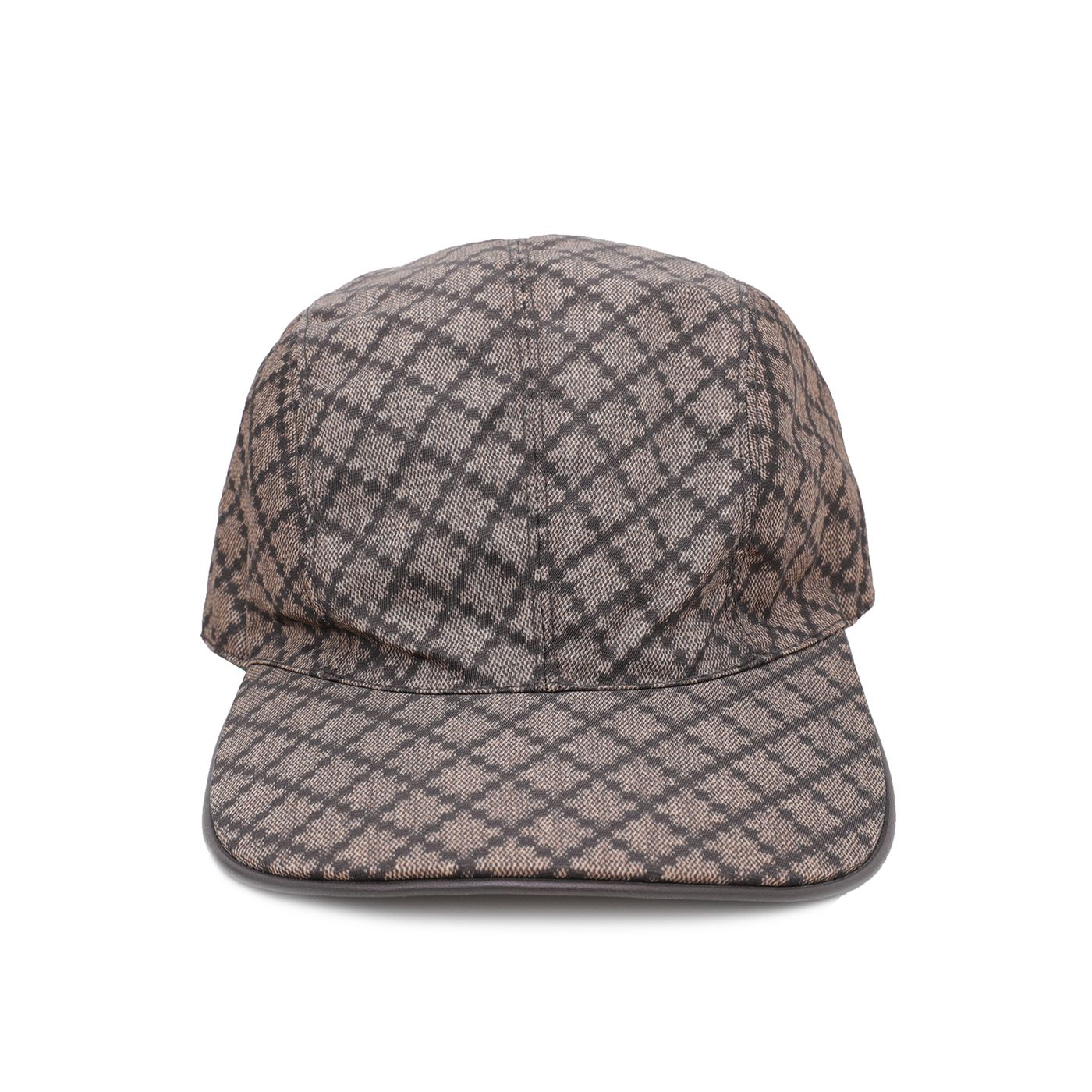 Gucci Brown Nylon Diamante Baseball Cap Medium