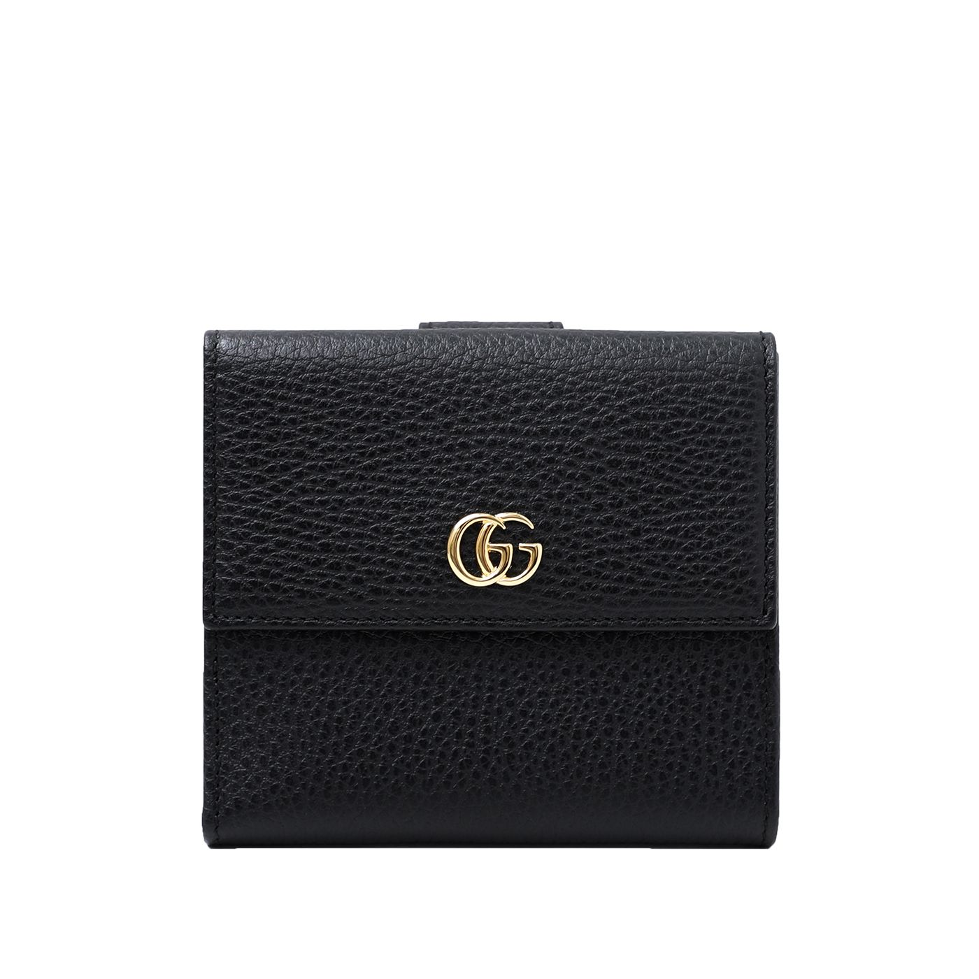 Gucci Black French Flap Wallet