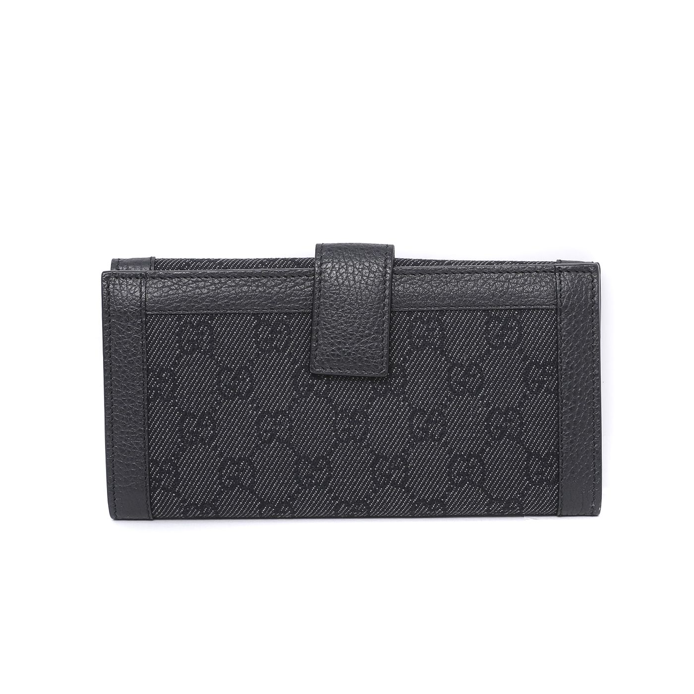 Gucci Black GG Crystal Continental Wallet