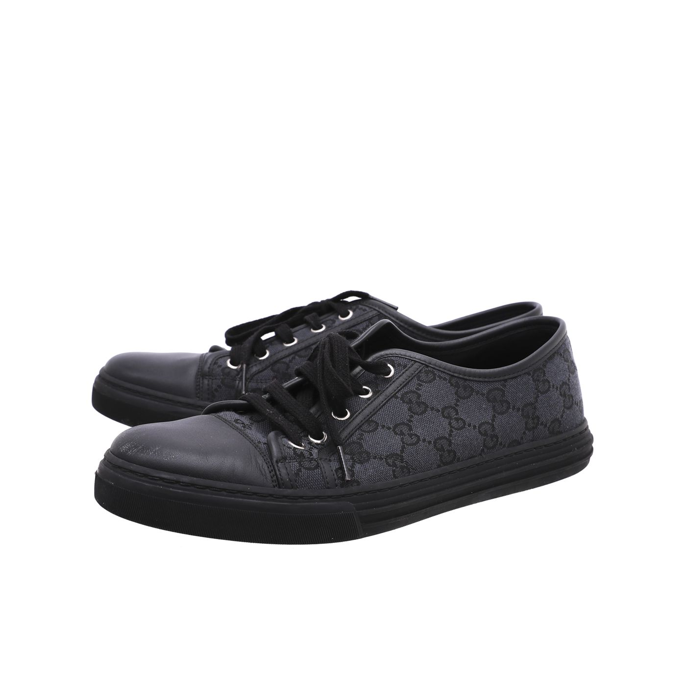 Gucci Black GG Low Top Sneakers 42