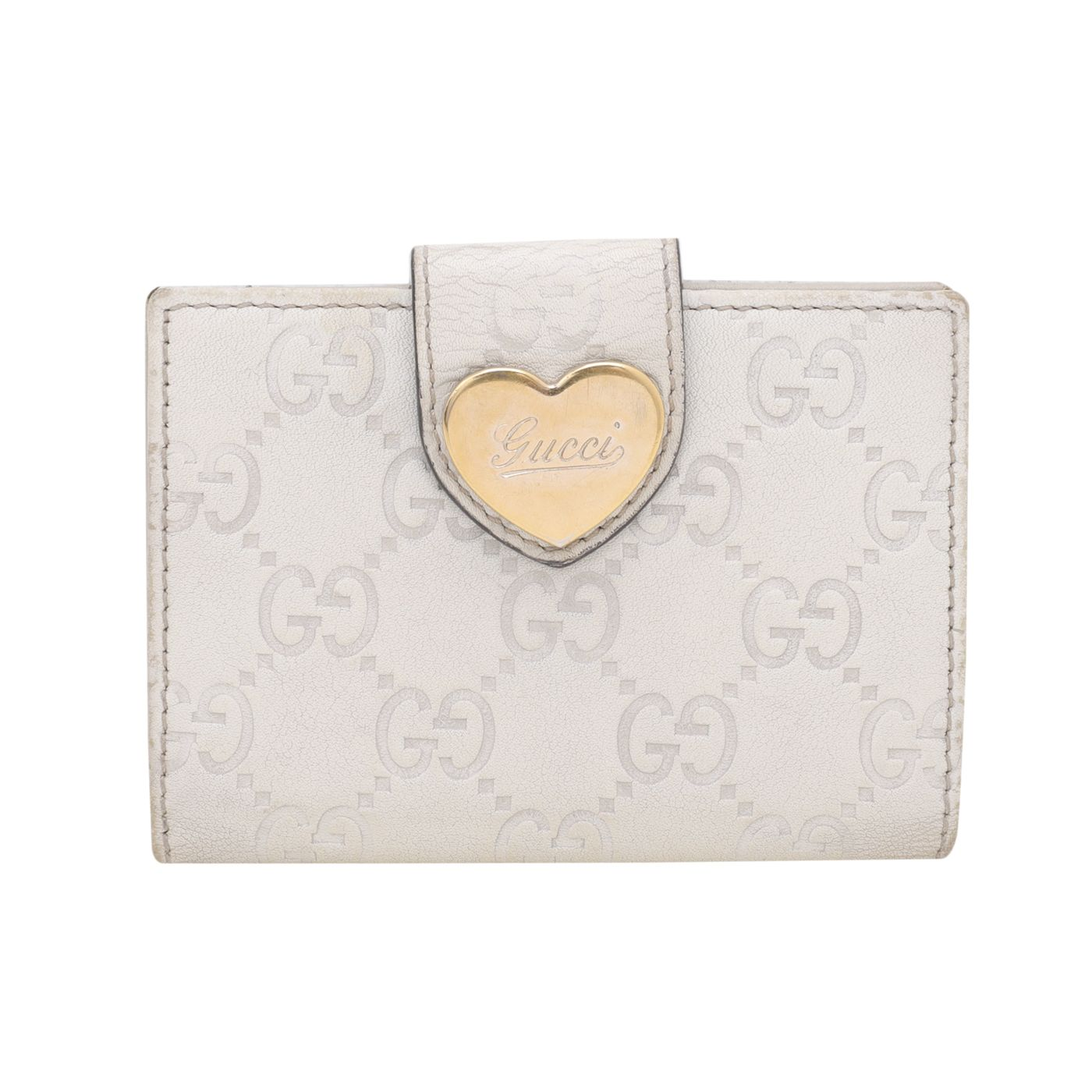 Gucci Off White GG Heart Travel Wallet