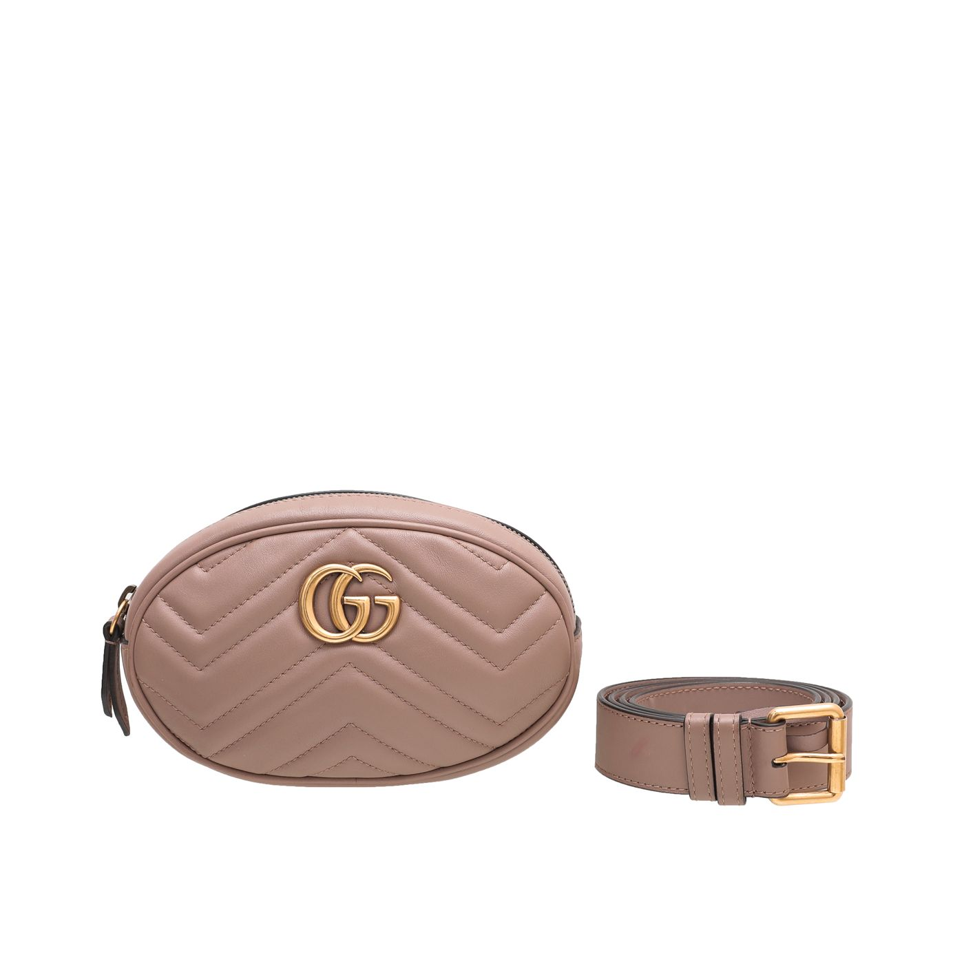 Gucci Nude GG Marmont Belt Bag