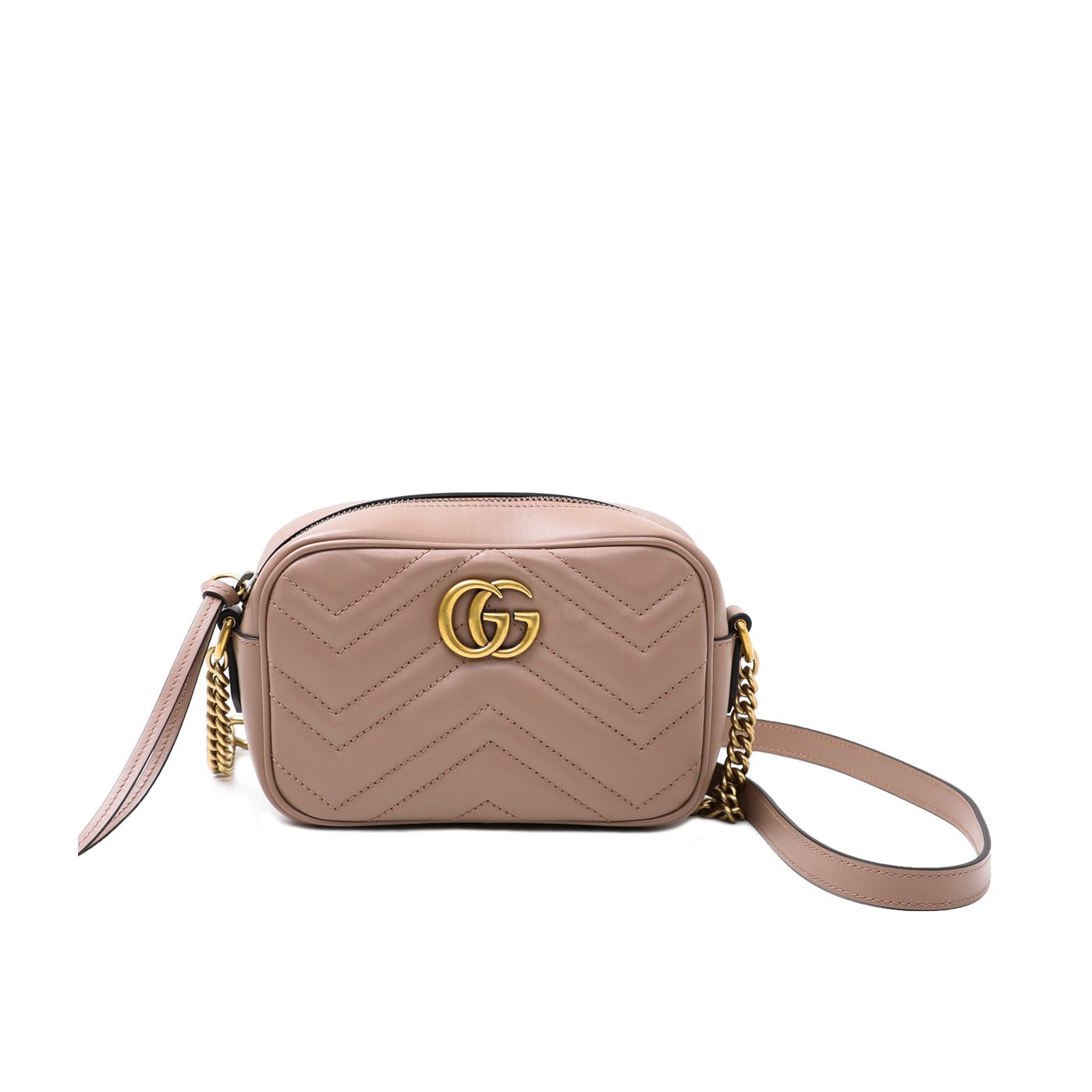Gucci Dusty Pink GG Marmont Camera Bag