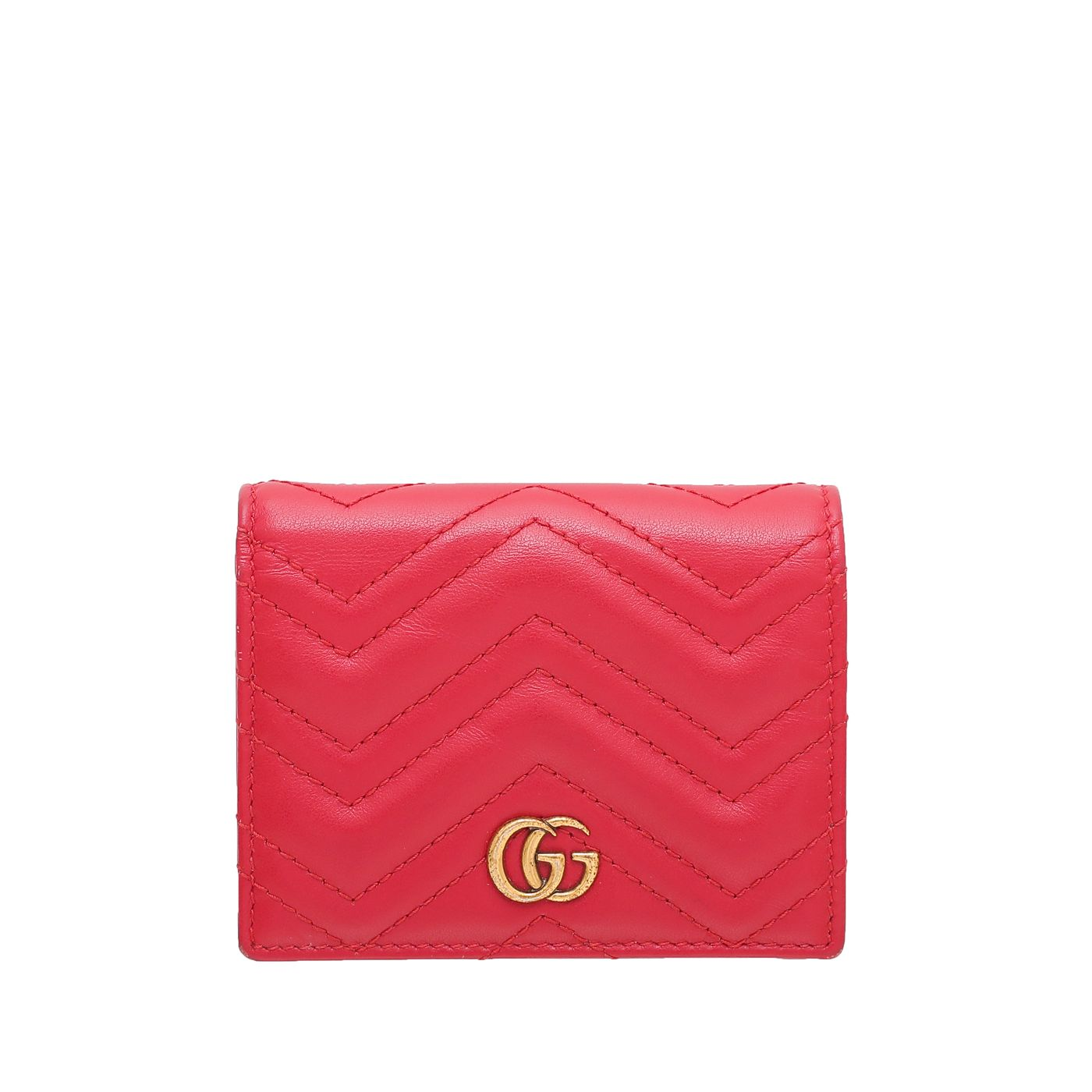 Gucci Red GG Marmont Card Case