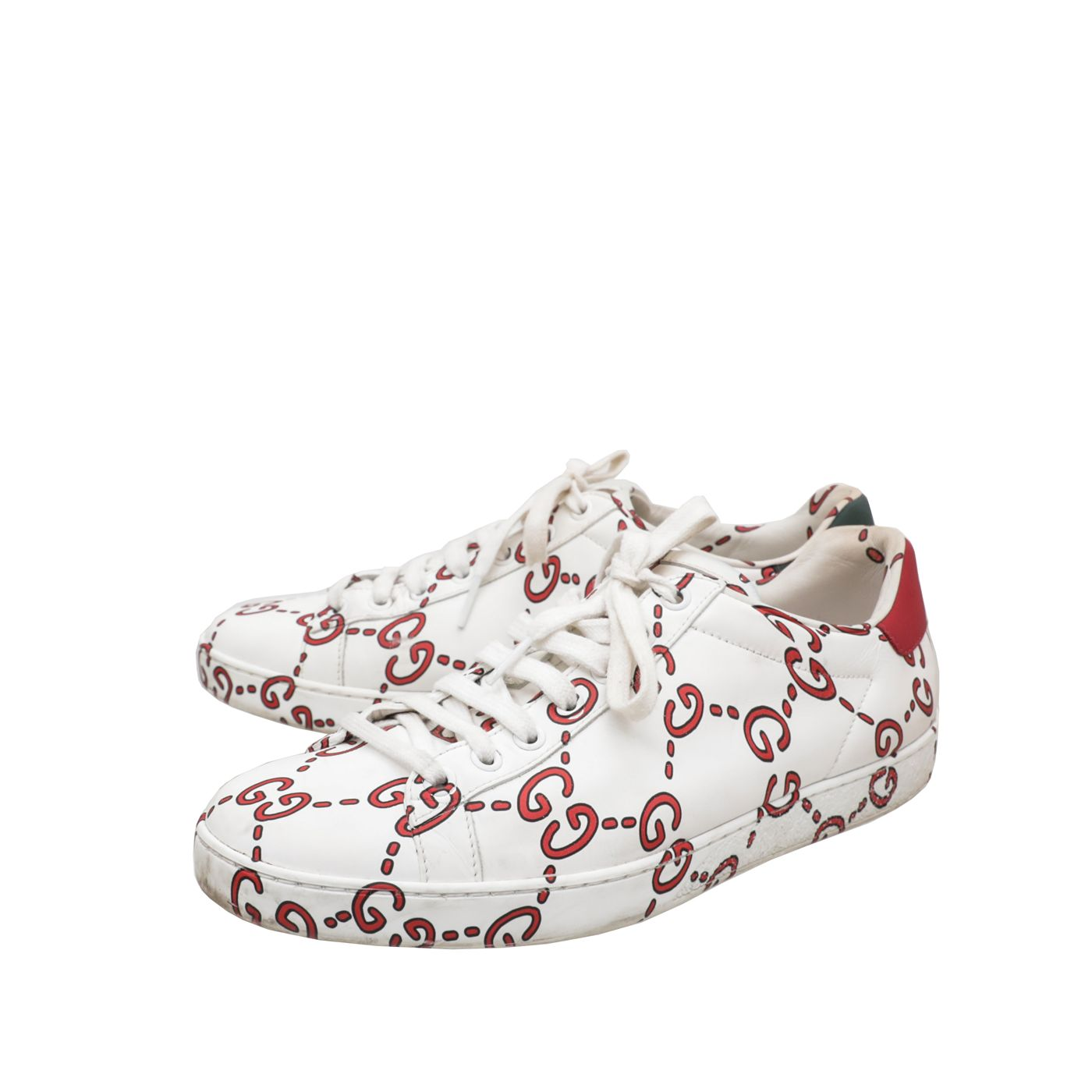 Gucci White GG Print Ace Sneakers 39