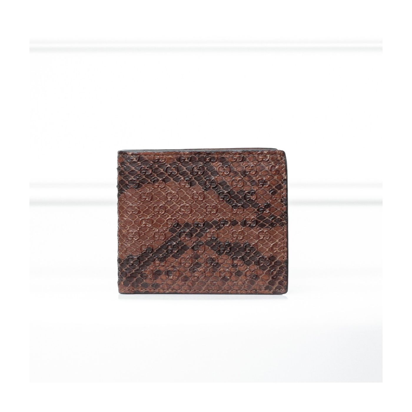Gucci GG Python Bifold Brown Wallet