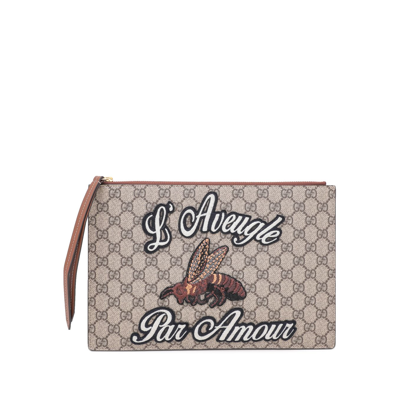 Gucci Bicolor GG Supreme Embroidered Blind For Love Pouch