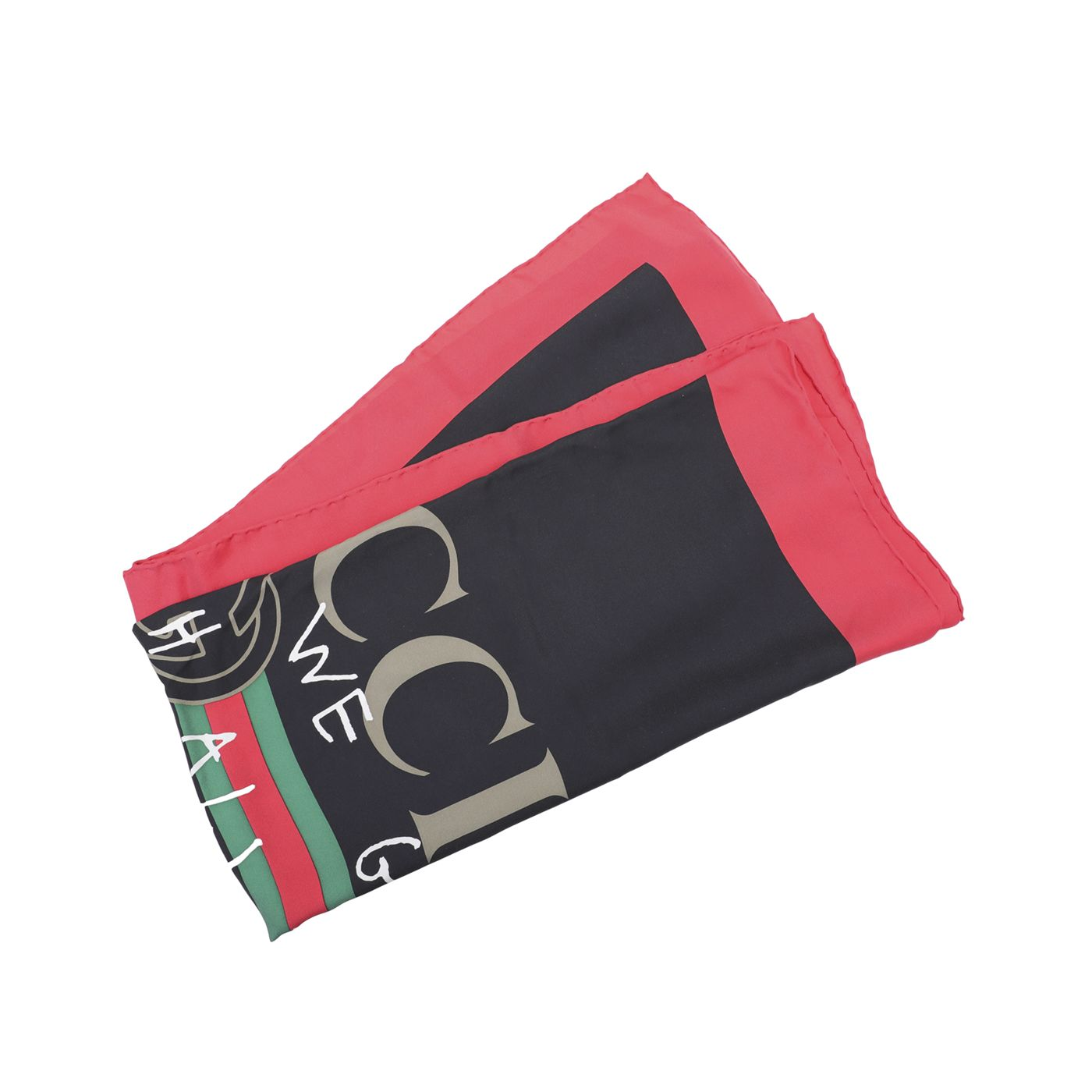 Gucci Multicolor Gucci Logo Coco Capitan Square Silk Scarf