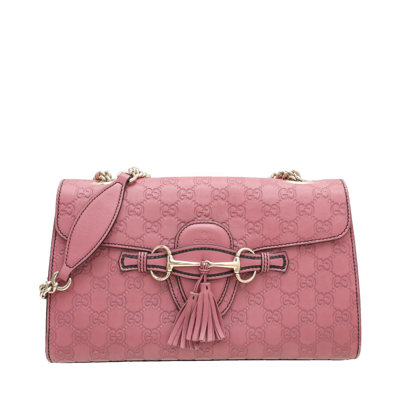 Gucci Pink Rouge Guccissima Emily Bag
