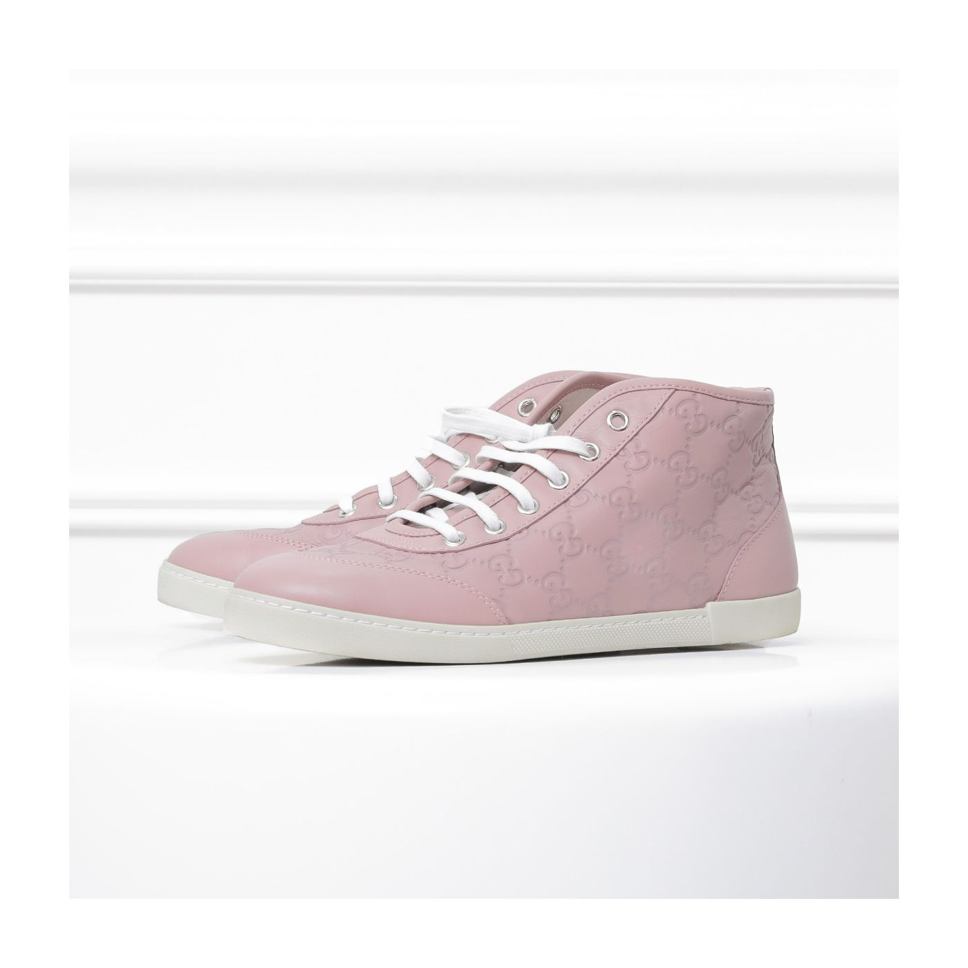 Gucci Tricolor High Cut Sneakers 37.5