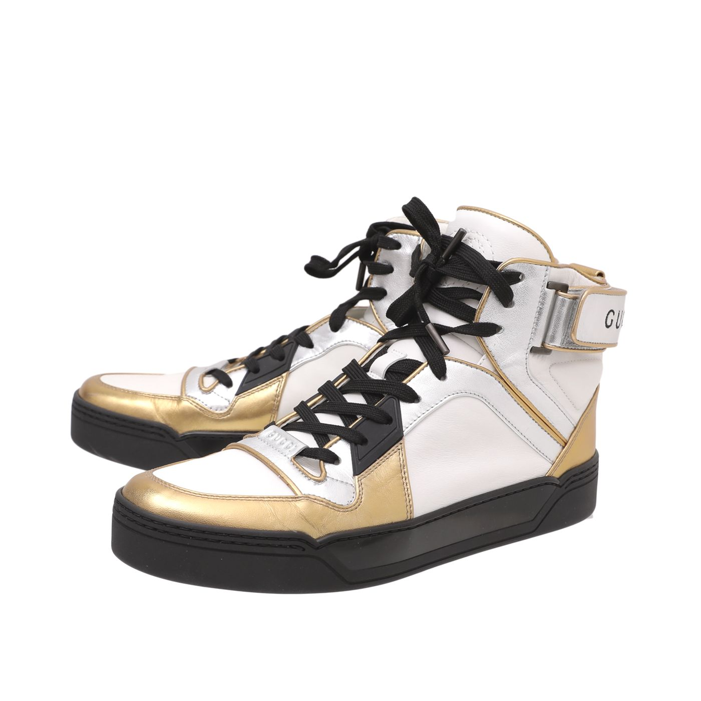 Gucci Tricolor High Top Sneakers 41.5