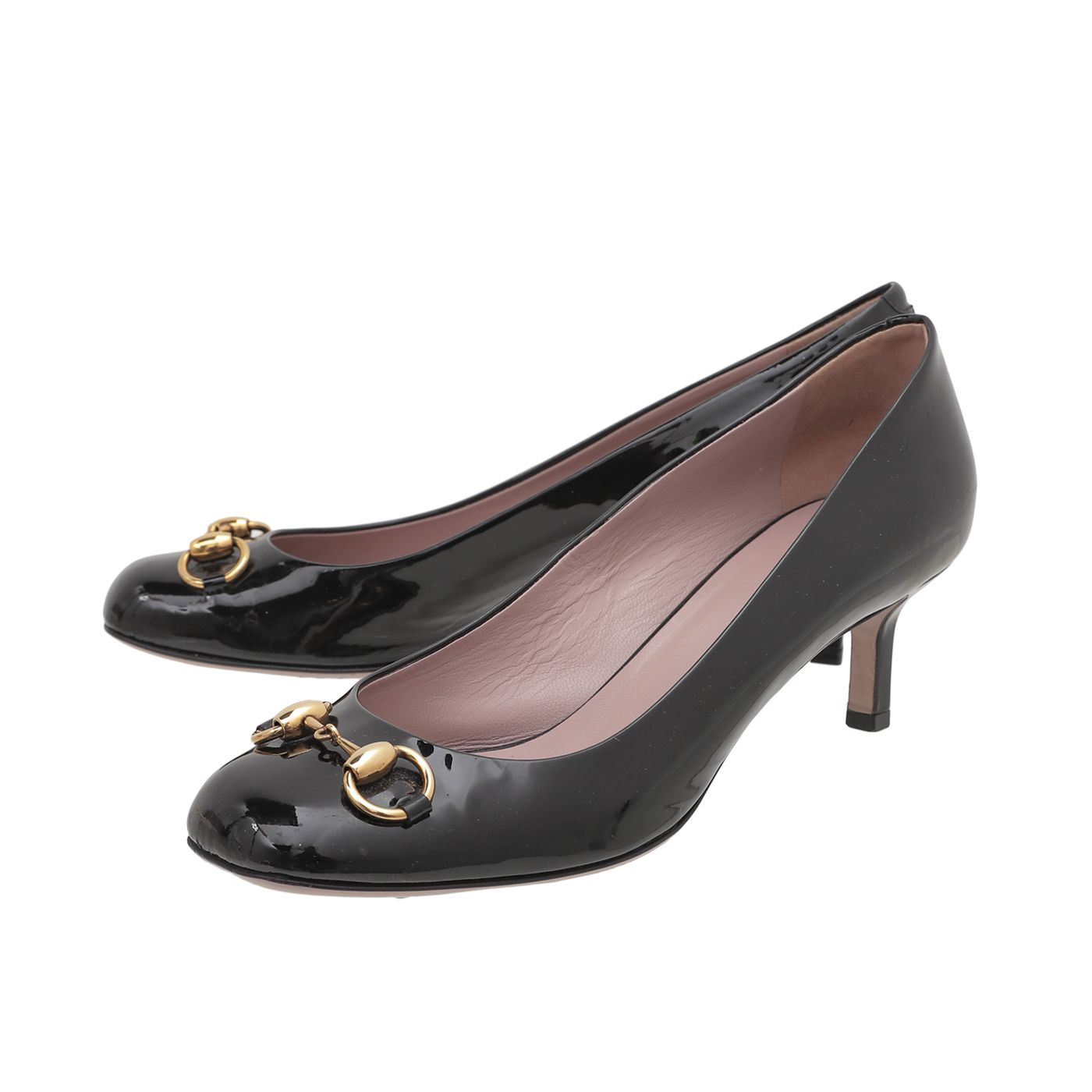 Gucci Black Horsebit Square Toe 50mm Pumps 39