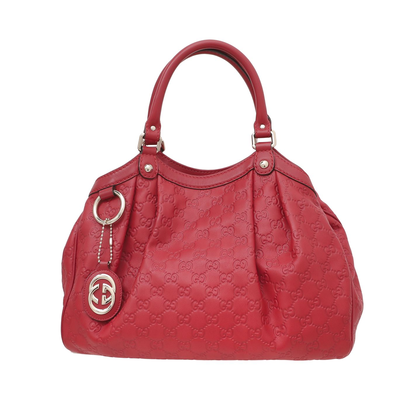 Gucci Red Macy's Geral Square Exclusive Sukey Bag