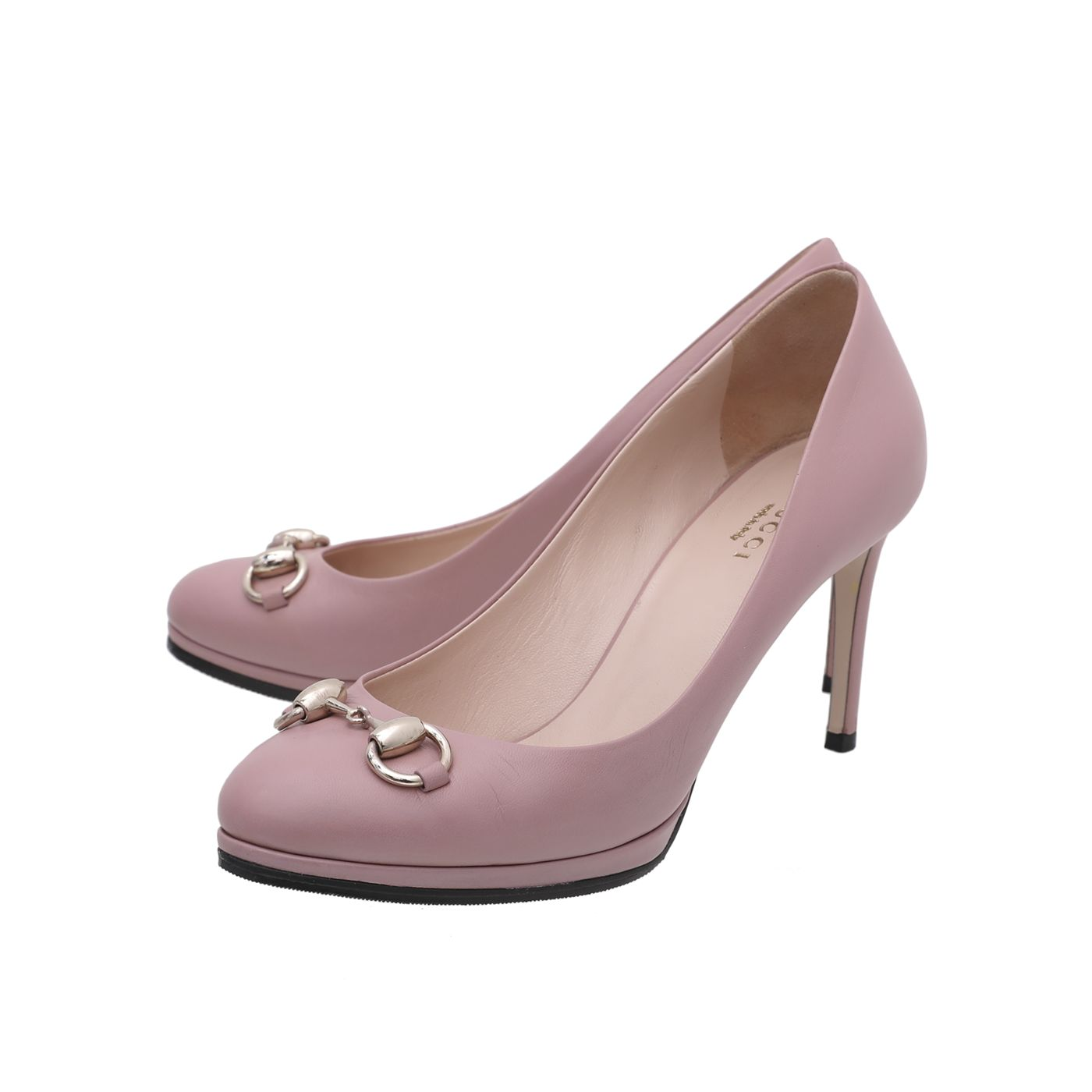 Gucci Dusty Pink Malaga Kid Horsebit Pump 36