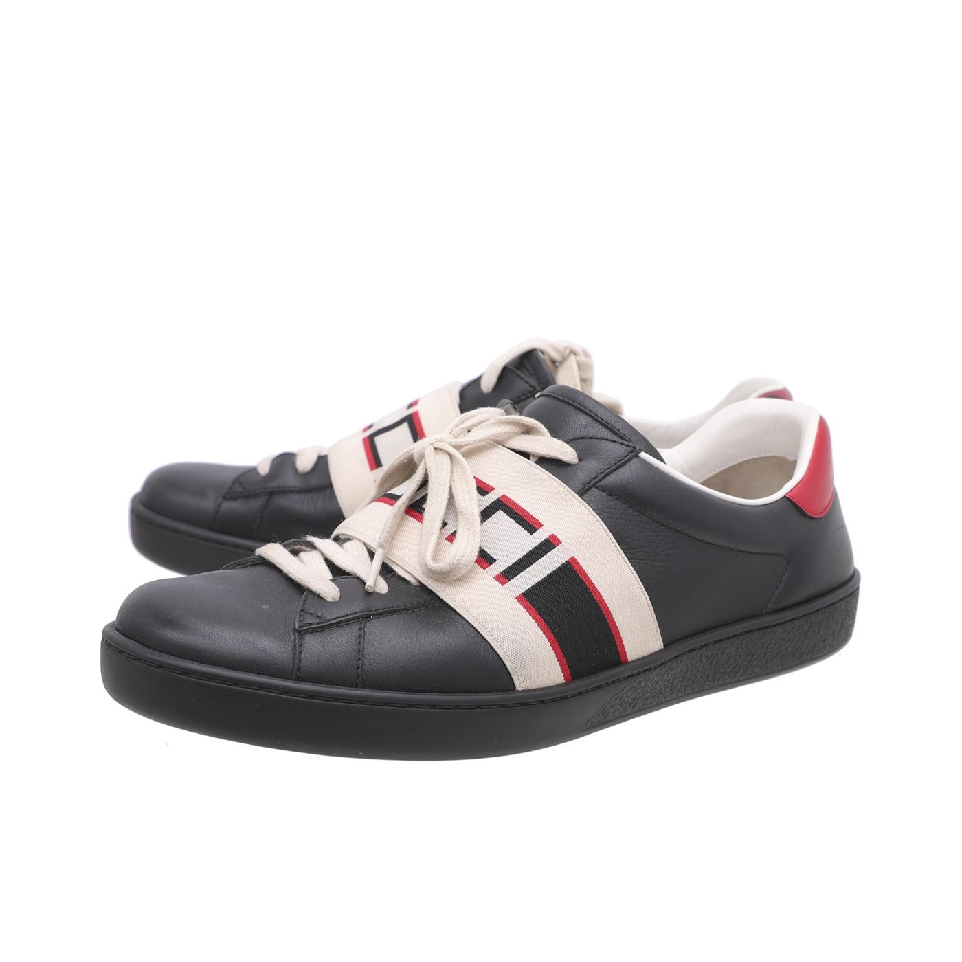 Gucci Multicolor Mens Ace Stripe Sneakers 42