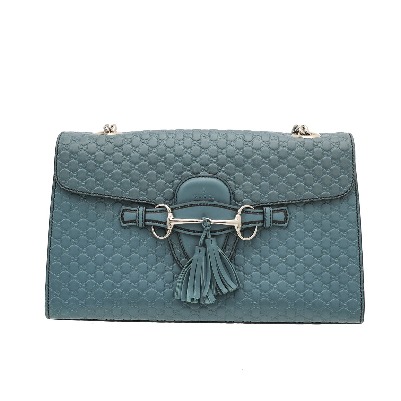 Gucci Turquoise Microguccissima Emily Bag