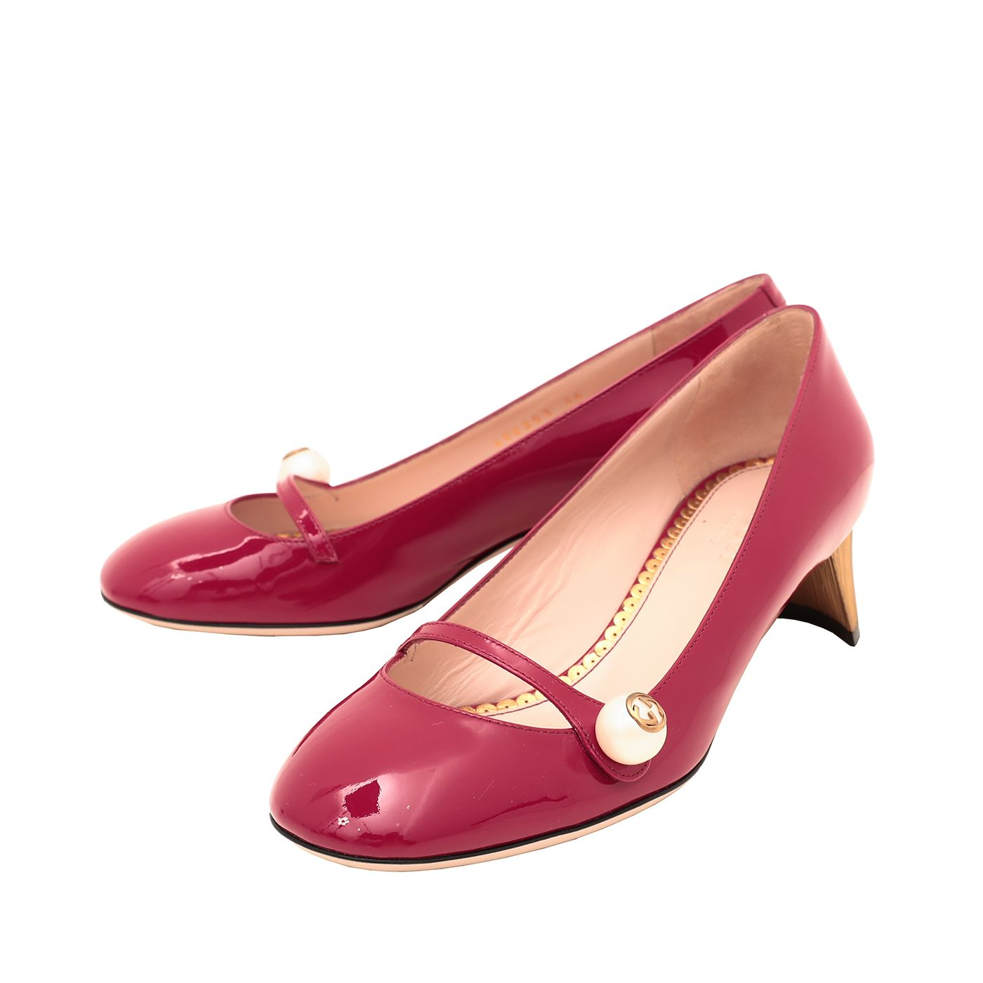 Gucci Red Pearl Detail Mary Jane Pump 36