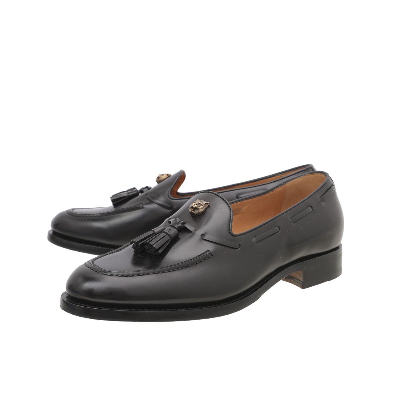 Gucci Black Sagan Tasseled Venetian Loafer 38