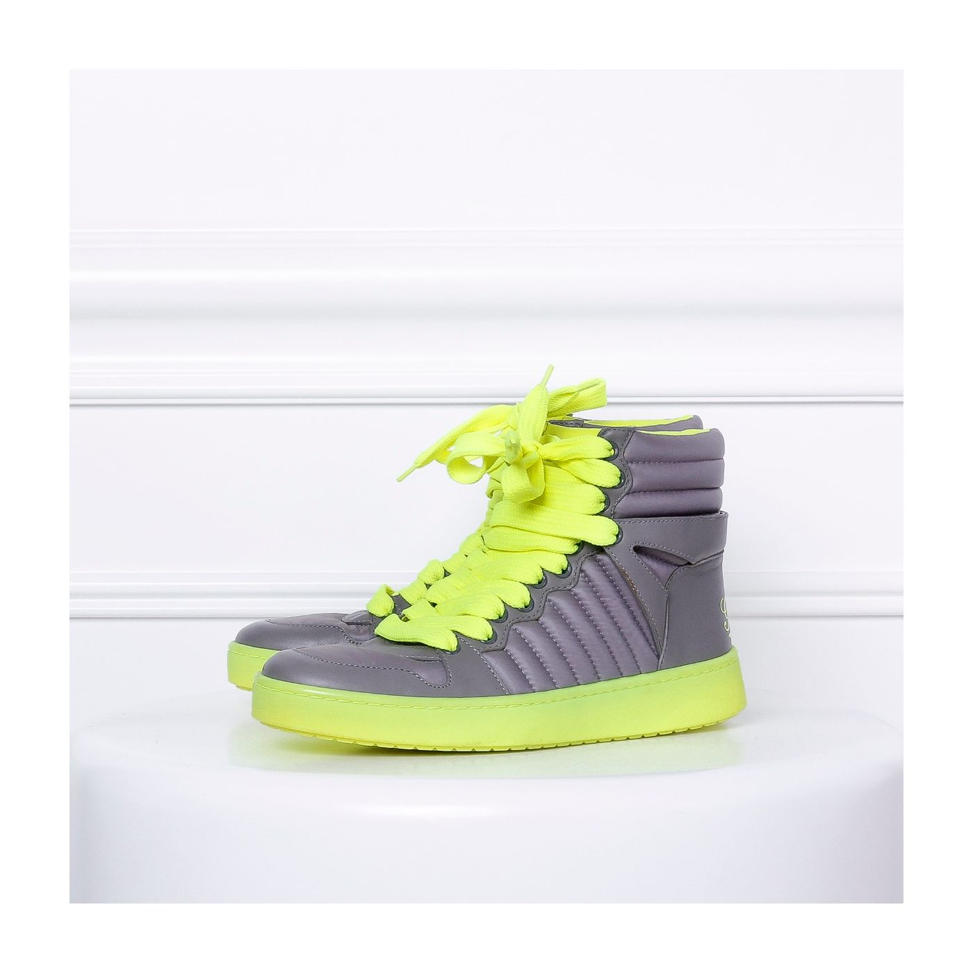 Gucci High Neon Green sneakers 37