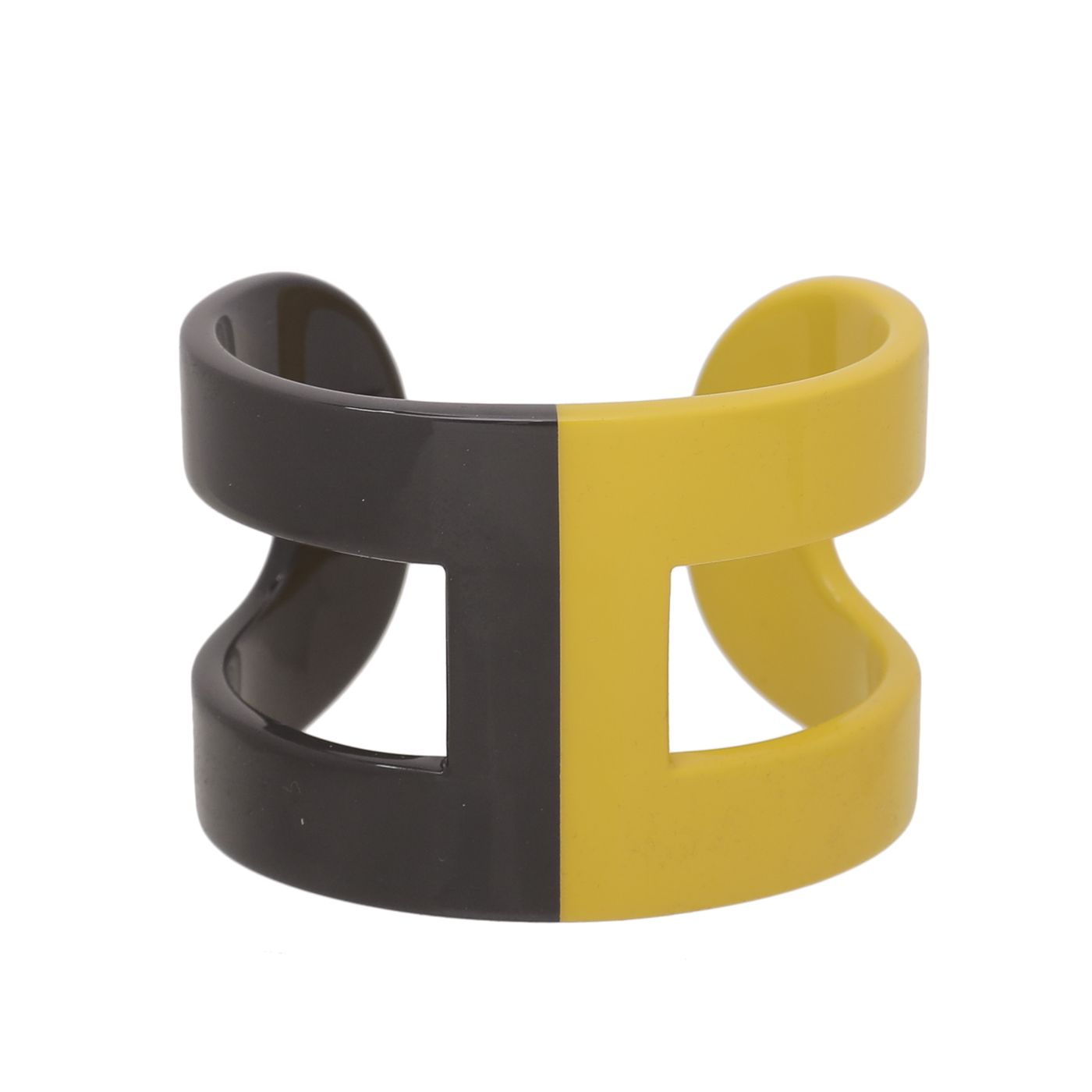 Hermes Bicolor Ano Lacquered Wood Bracelet