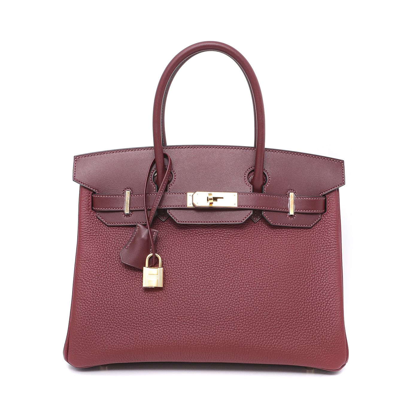 Hermes Rouge H Clemence/Swift Birkin 30