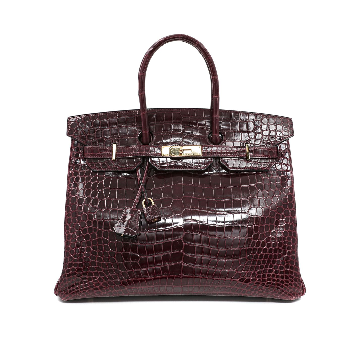 Hermes Rouge H Croco Birkin Bag 35