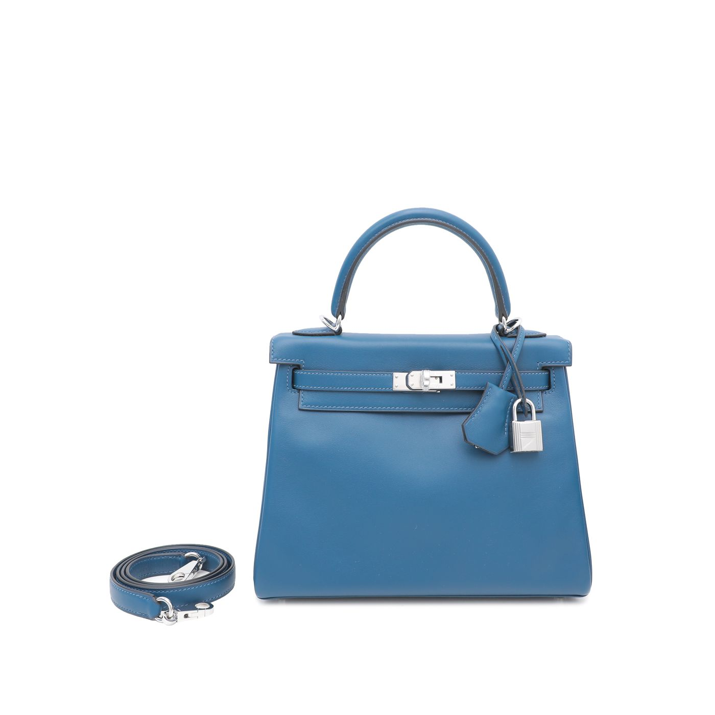 Hermes Deep Blue Retourne Kelly 25 Bag