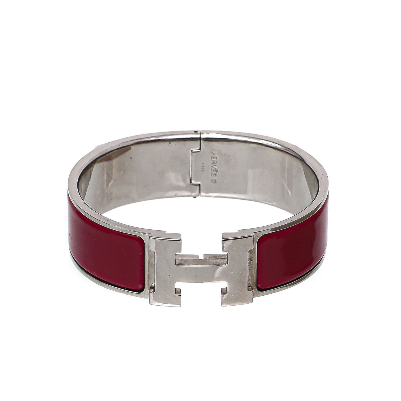 Hermes Rouge H Clic Clac Bangle Medium