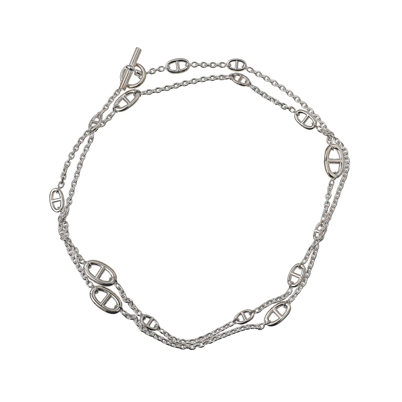 Hermes Sterling Silver Farandole 46 Inch Necklace