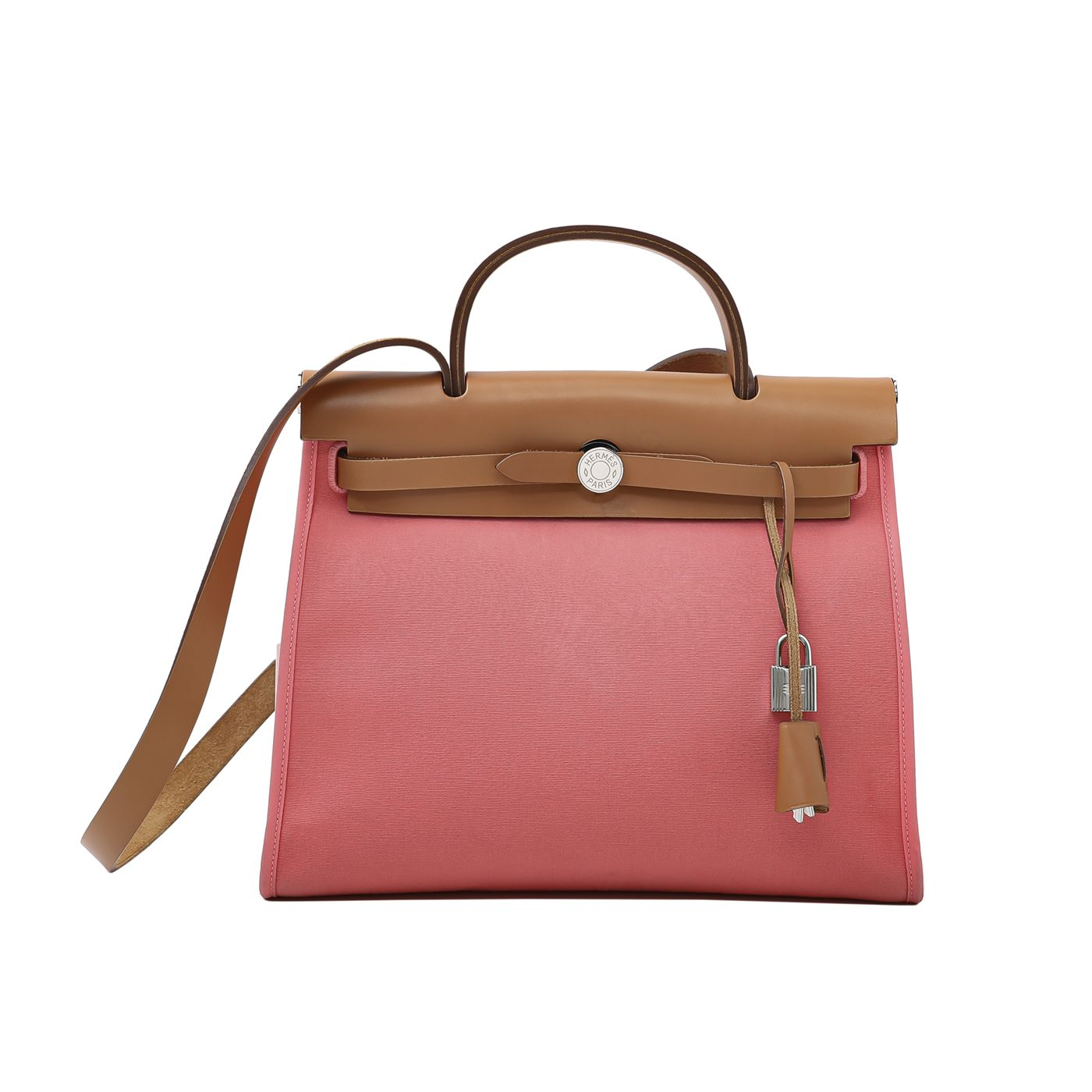 Hermes Rose Azalea Herbag PM Bag