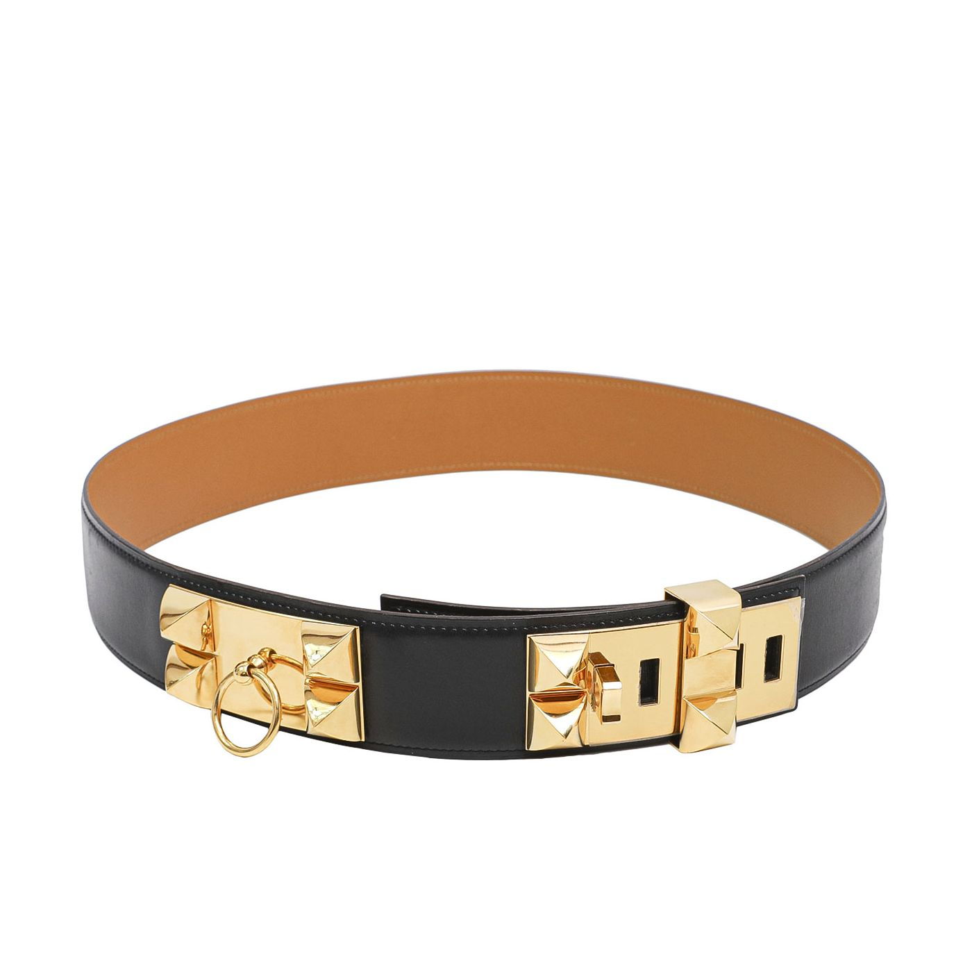Hermes Black Collier De Chien Belt