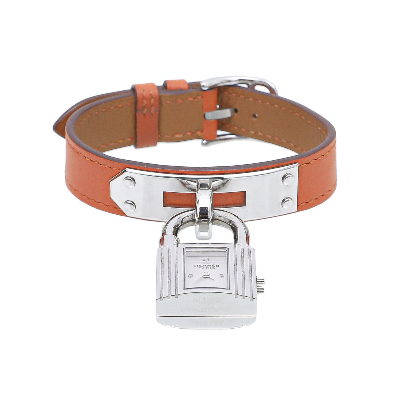 Hermes Orange Kelly Watch 20MM
