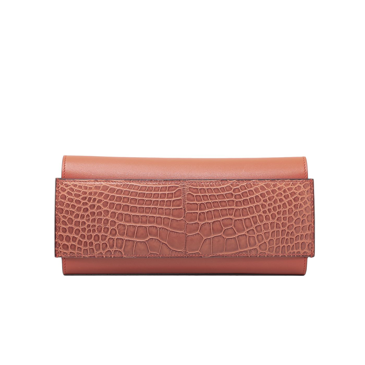 Hermes Sanguine Alligator Passant Evercolor Wallet